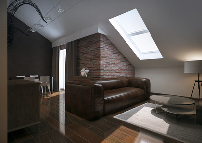 Modern loft Living room interior